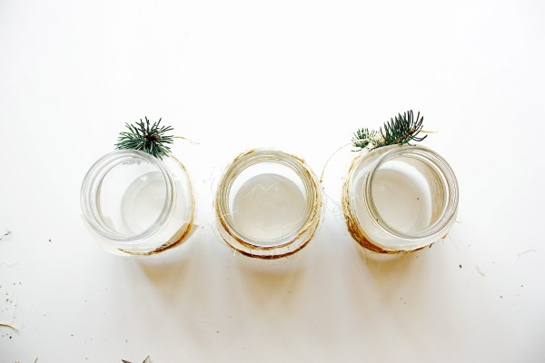 Rustic Christmas Candle DIY - 3