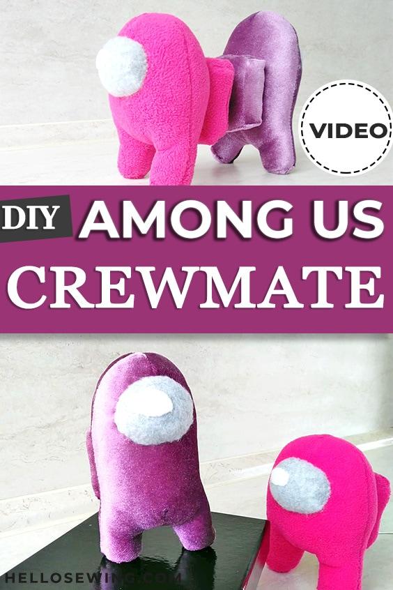 Among Us Crewmate Plush - Free Sewing Pattern