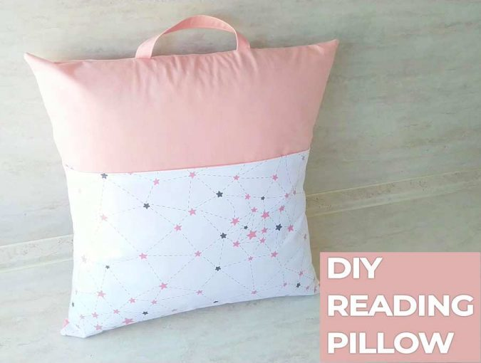 diy reading pillow pattern how to