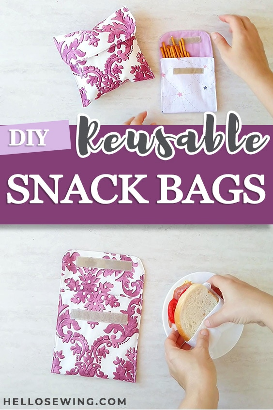 How to Sew Reusable Snack Bags and Sandwich Bags - Tutorial
