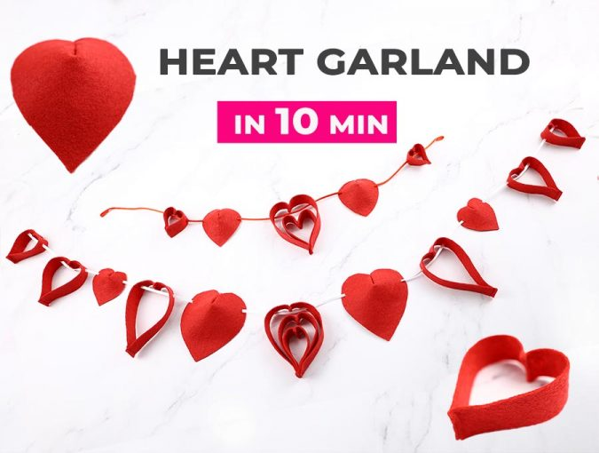10 Minute Felt Heart Garland - Easy Sewing Tutorial