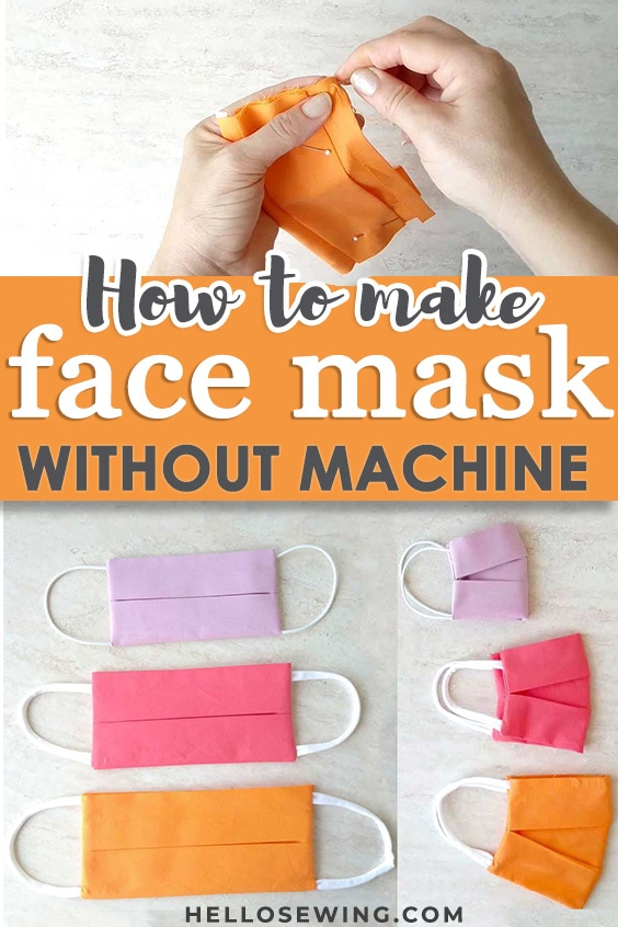Make a fabric face mask without a sewing machine