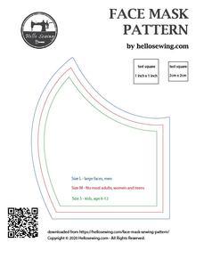 Germ Free Mask Pattern Pdf : pattern, Pattern, (FREE), Mouth