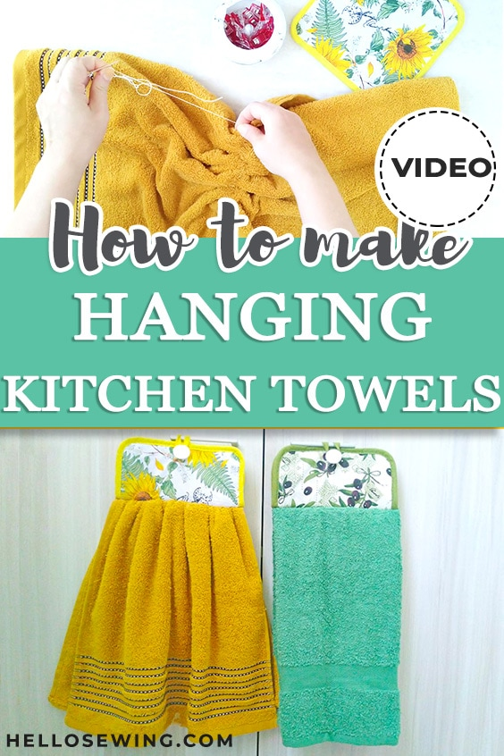 DIY Hanging Kitchen Towel - Sewing Tutorial