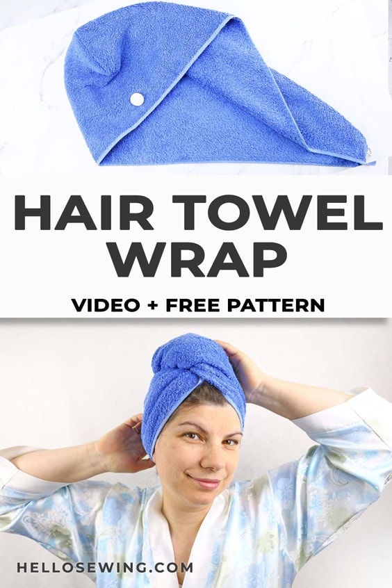 Make a Hair Turban From a Towel - Free Sewing Pattern