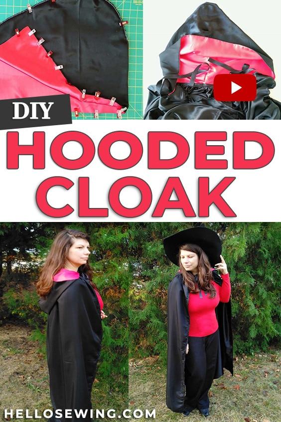 Easy Hooded Cloak DIY Sewing Tutorial