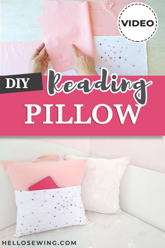 Easy Reading Pillow Sewing Tutorial