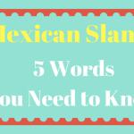 Mexican Slang