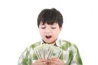 Boy counts money