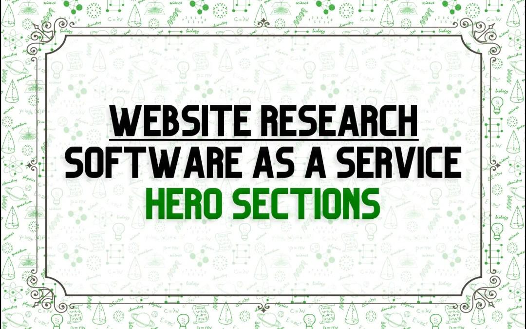SaaS Website Hero Trends: A Study of 600+ Websites