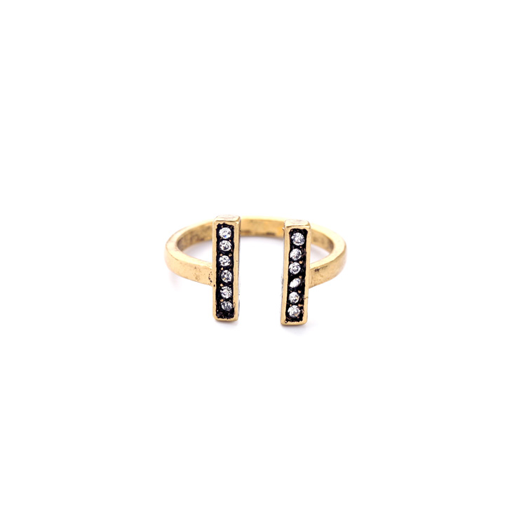 Malachite Pave Stone Ring Set