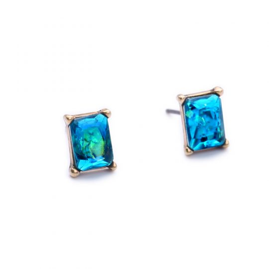 Ocean Blue Multistone Jacket Earrings