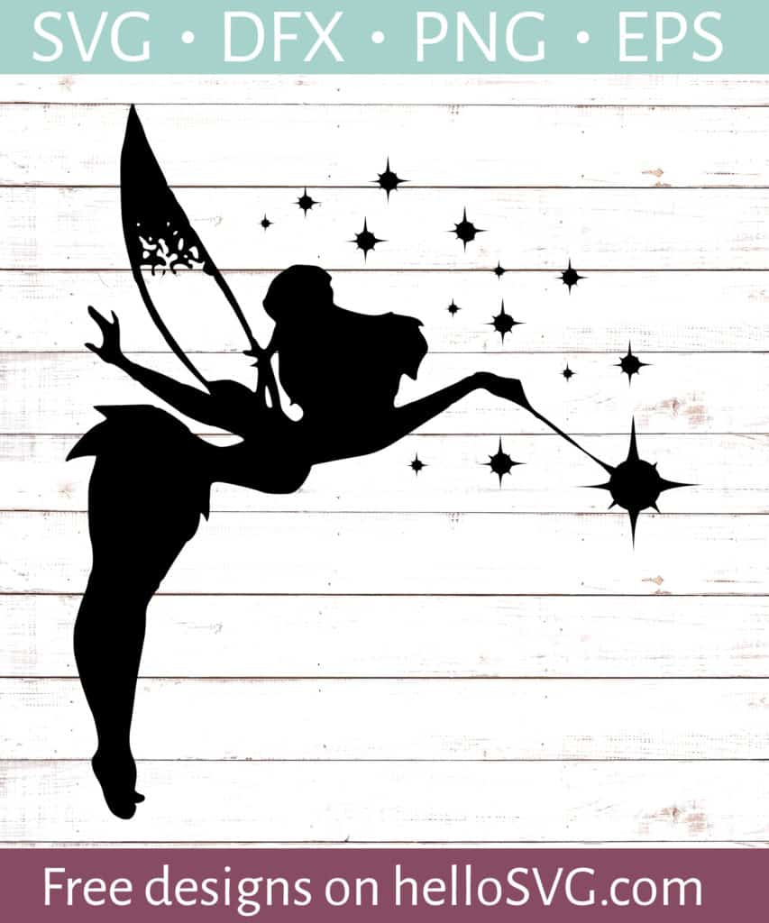 Download Tinkerbell Silhouette #3 SVG - Free SVG files | HelloSVG.com