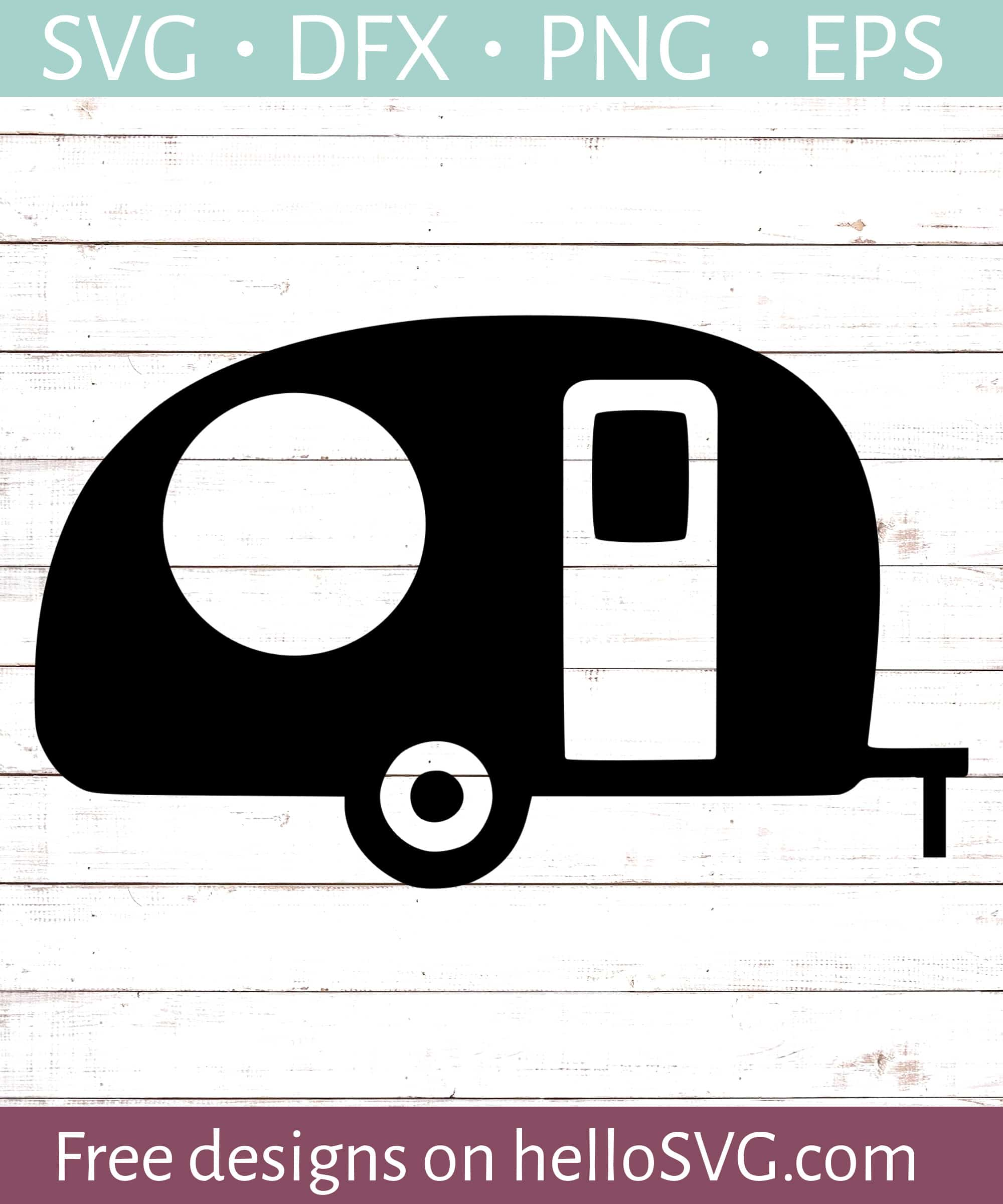 Rv Svg : Camper, Monogram, Files, HelloSVG.com
