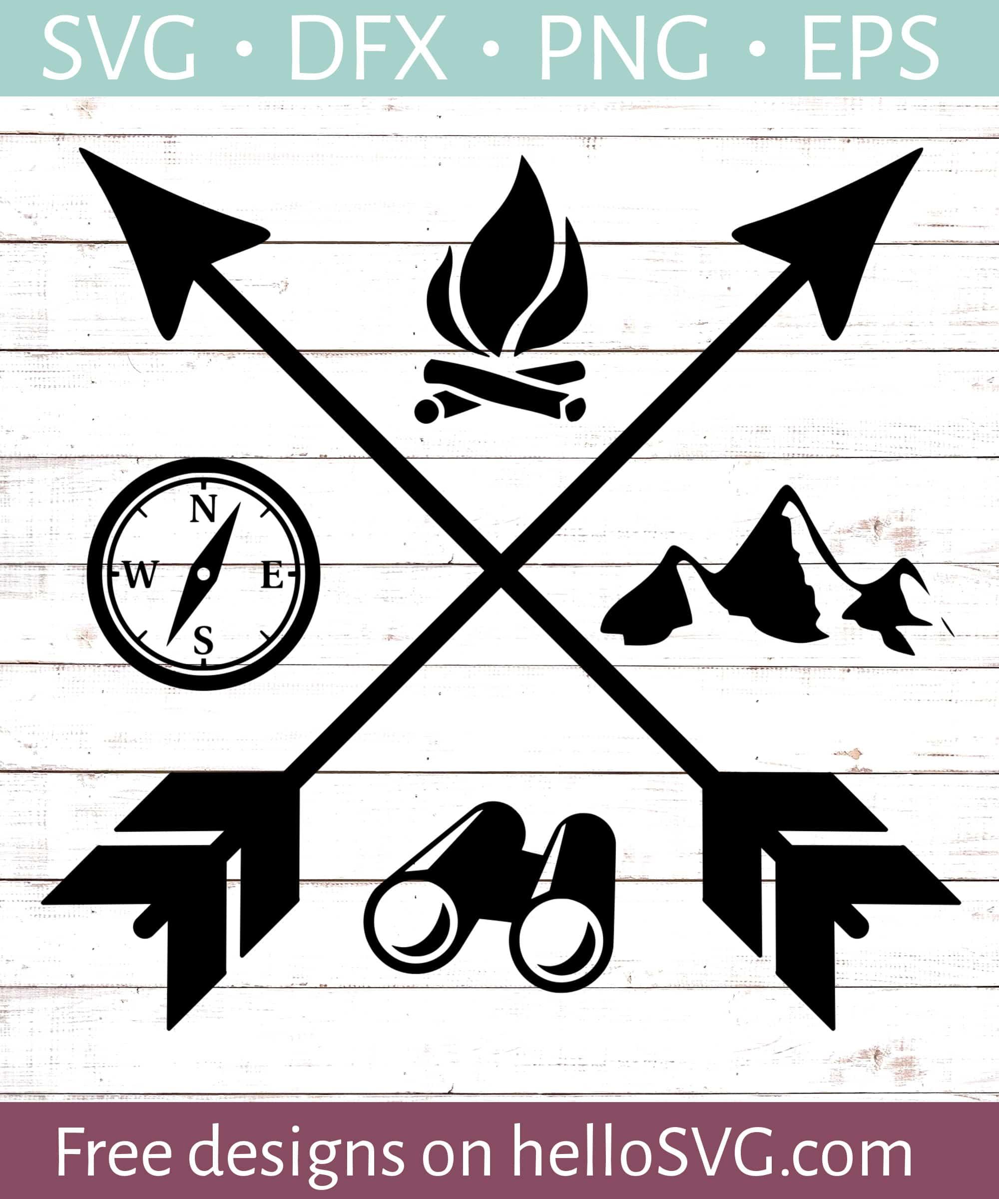 Camping Svg : camping, Camping, Arrows, Files, HelloSVG.com