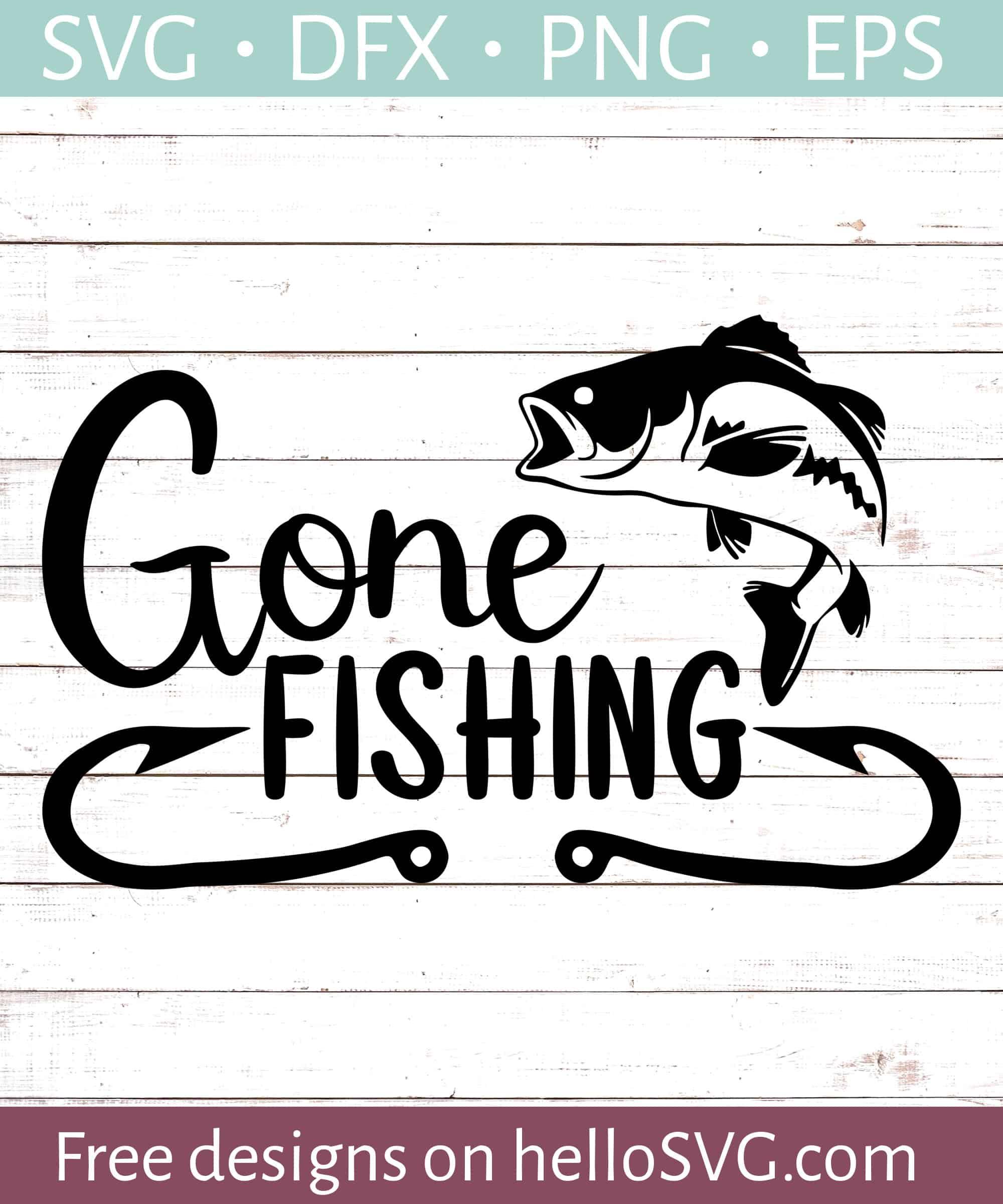 01d8c92b3 Gone Fishing #3 SVG - Free SVG files | HelloSVG.com