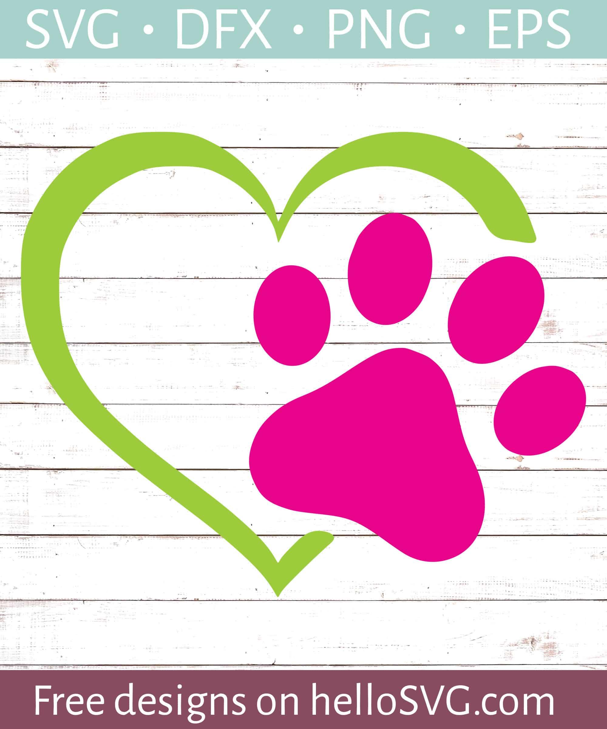 Dog Paw Svg Free : Heart, Prints, Files, HelloSVG.com