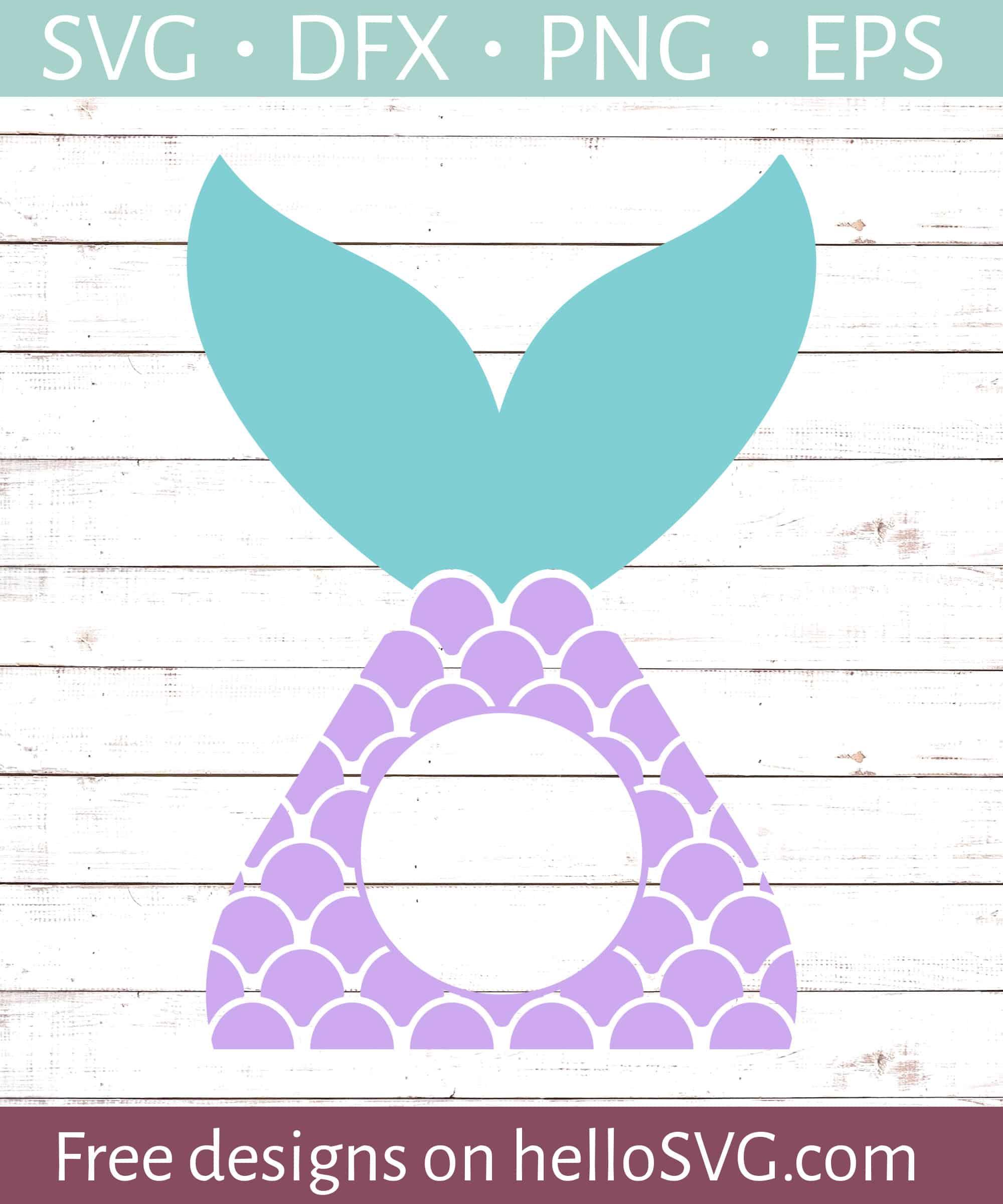 Monogram Mermaid Svg : monogram, mermaid, Mermaid, Circle, Monogram, Files, HelloSVG.com