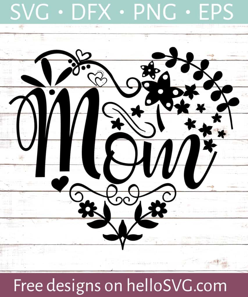 Download Mom Heart SVG - Free SVG files | HelloSVG.com