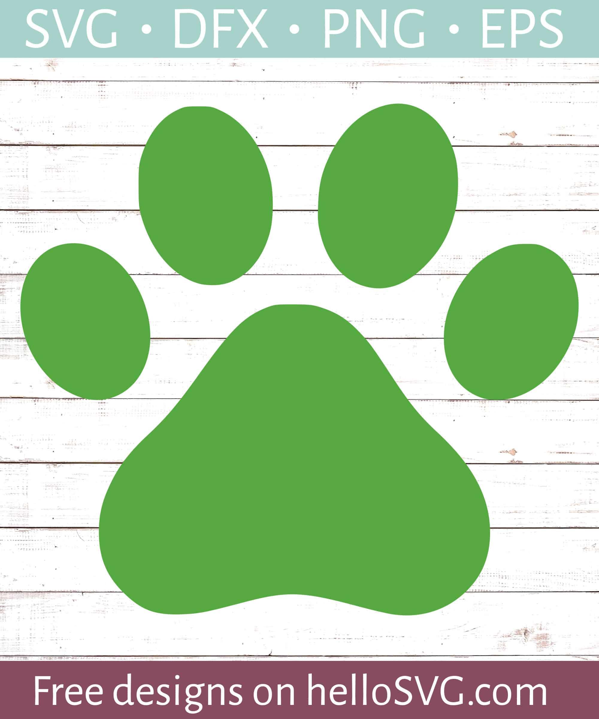 Dog Paw Svg Free : Print, Files, HelloSVG.com