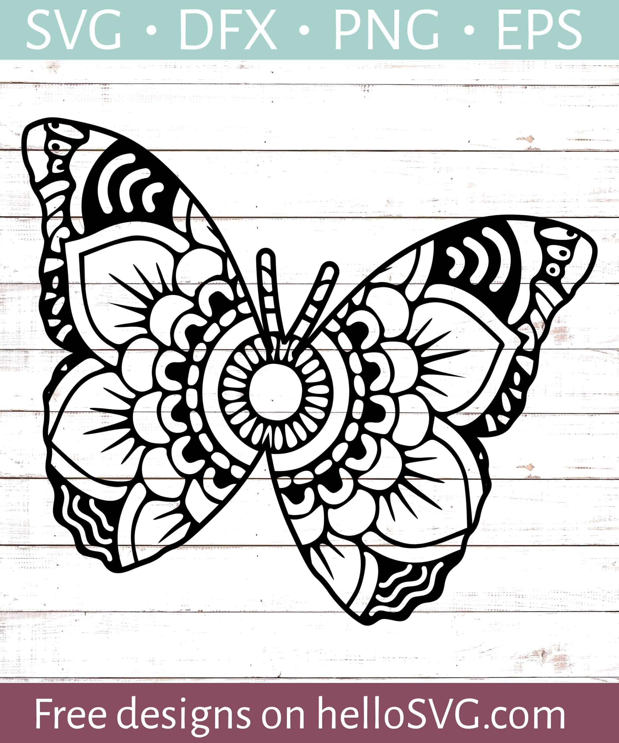 Mandala Svg Free Download : mandala, download, Mandala, Butterfly, Files, HelloSVG.com