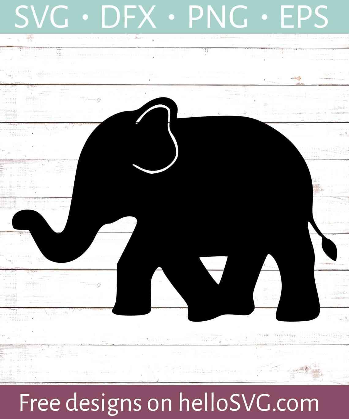 Download Walking Elephant SVG - Free SVG files | HelloSVG.com