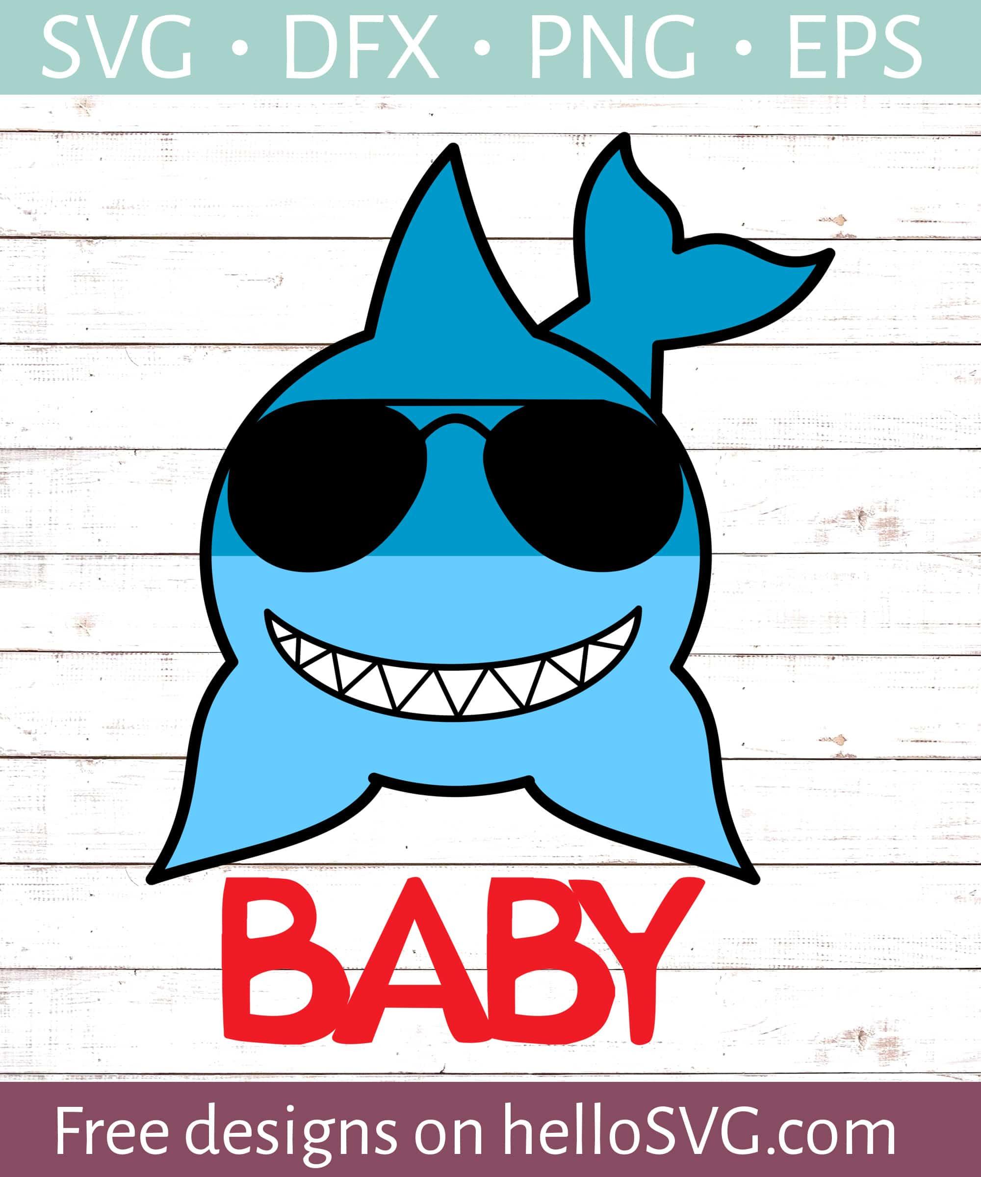 Baby shark birthday svg | Etsy