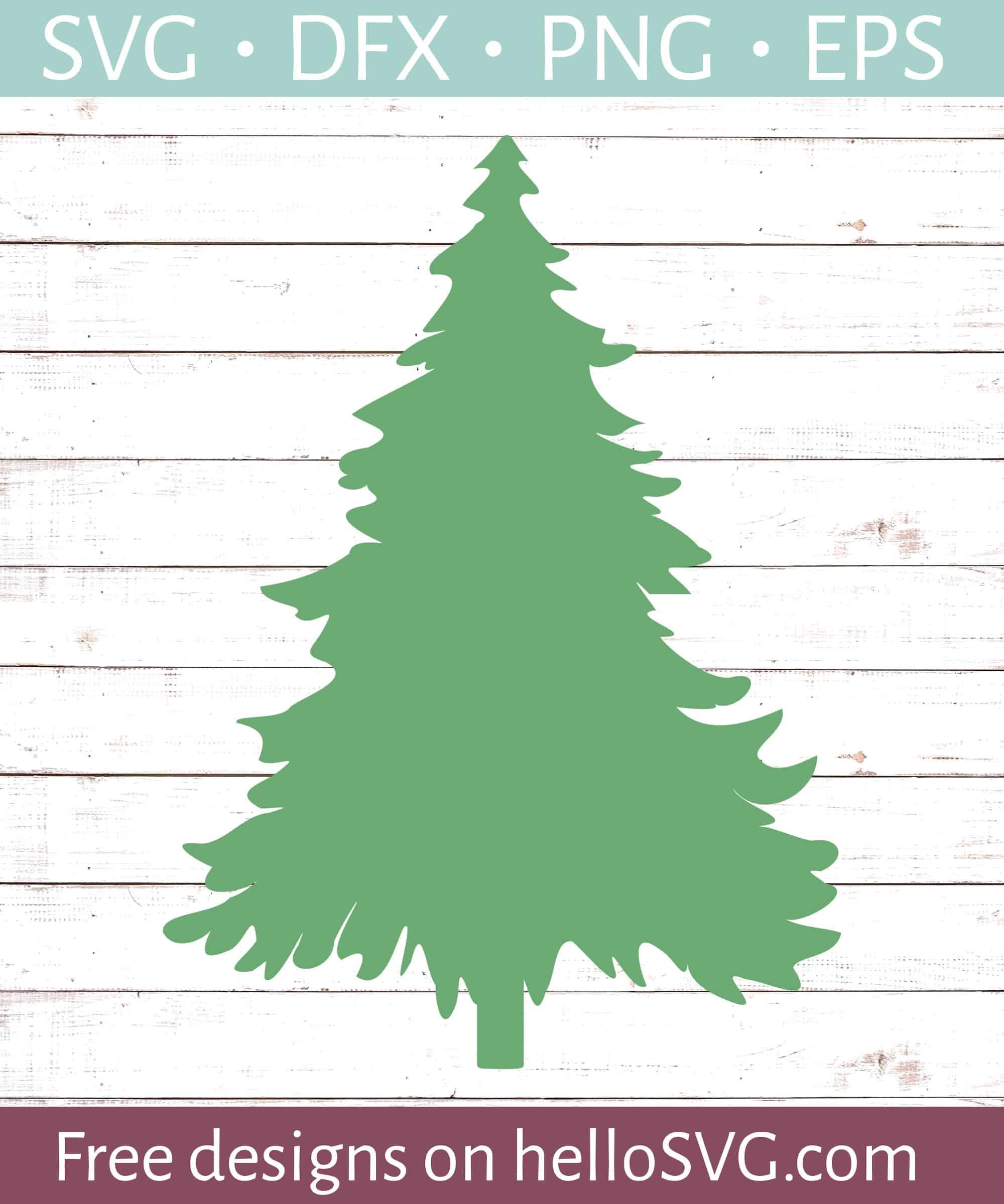 Simple Christmas Tree SVG - Free SVG files | HelloSVG.com
