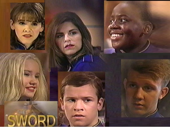 """Photos of the cast of Commander Kellie and the Superkids from """"The Sword"""" film."""
