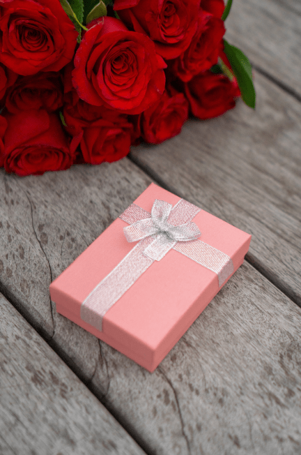 Wrapped pink box