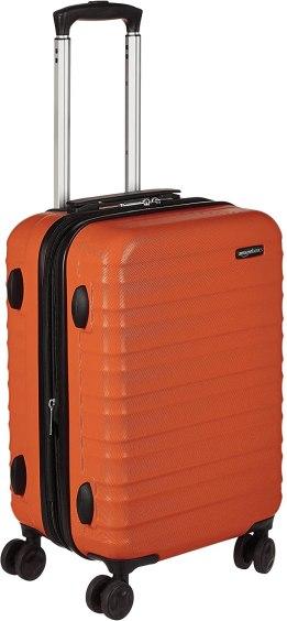 Amazon Basics Hardside Carry-On Spinner Suitcase Luggage in Orange