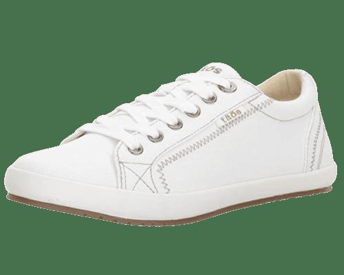 Taos Footwear White Canvas Sneaker