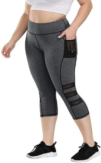 Uoohal High Waist Yoga Pants with Pockets Tummy Control