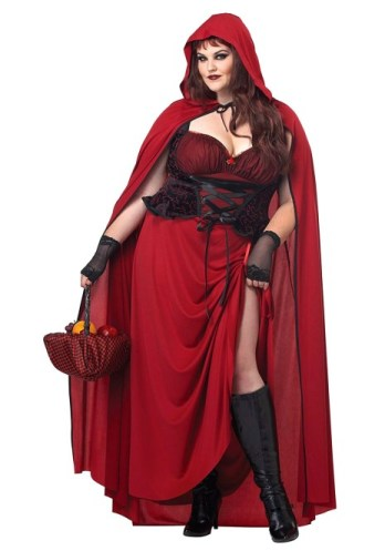 Dark Plus Size Red Riding Hood Costume | 1X - 3X