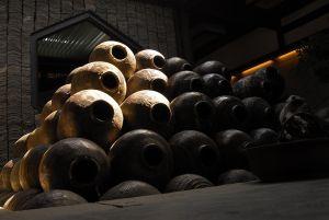 yellow wine jars