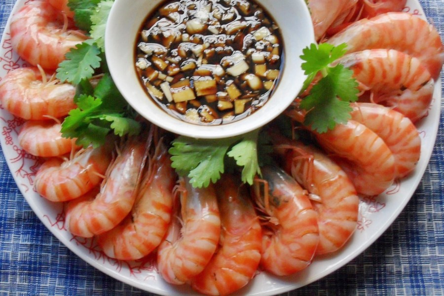 Boiled Shrimps Bai Zhuo Xia 白灼虾 cantonese food