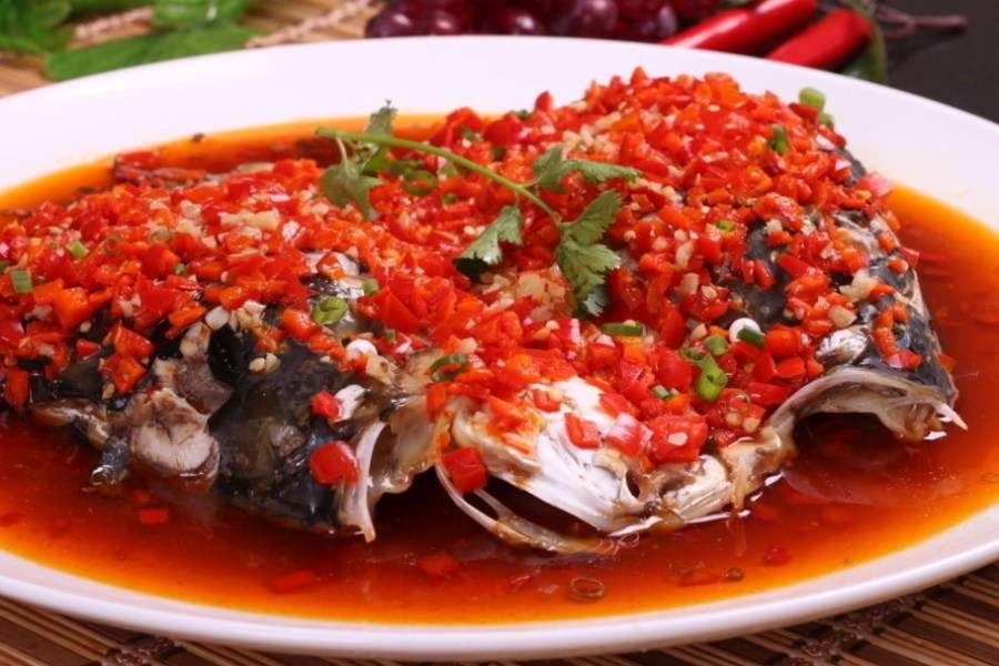 Fish Head with Chopped Chili Duo Jia Yu Tou 剁椒鱼头