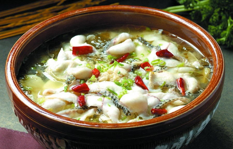 Fish Soup with Sichuan Pickles Suan Cai Yu, 酸菜鱼