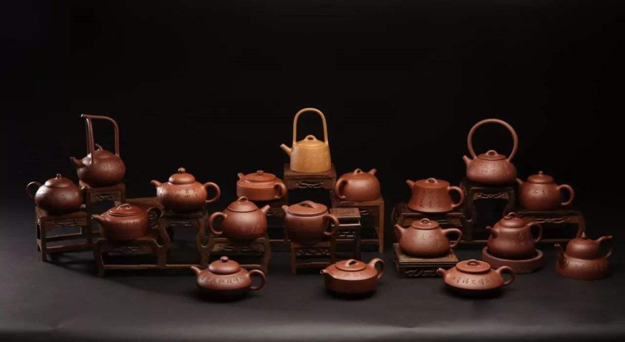 18 Styles Of Man Sheng Yixing Teapots 'Man Sheng Shi Ba Shi'