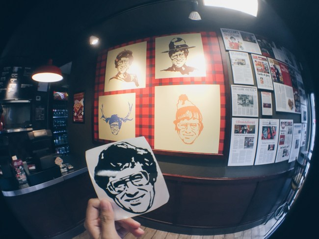 Smoke's Poutinerie - Restaurant Interior and Sticker! - HELLOTERI