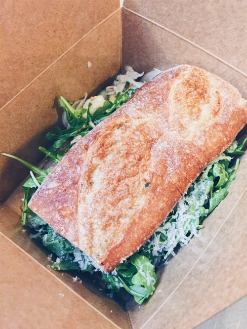 Los Angeles, USA - Grand Central Market - Porkloin Sandwich with Herb and Arugula - helloteri
