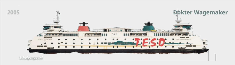 Veerboot Dokter Wagemaker TESO Texel