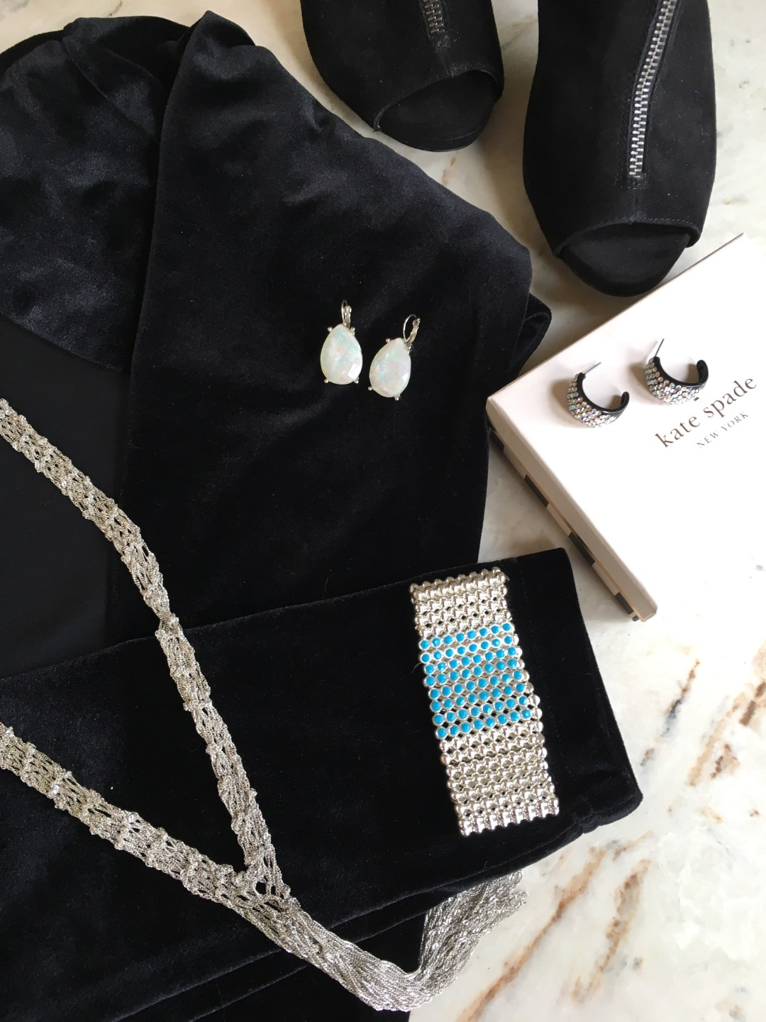 Earrings (top middle) are from Macy's.