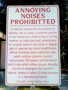 no noise sign