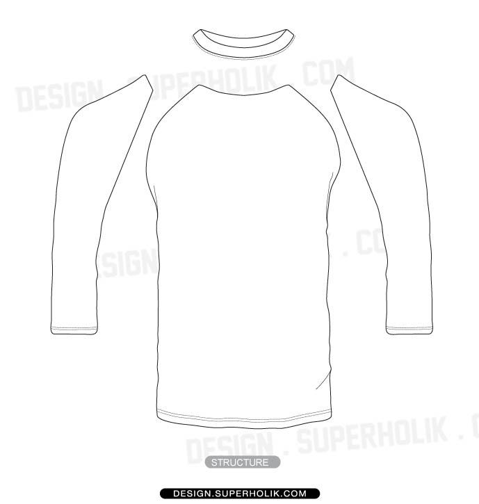 3/4 sleeve shirt template