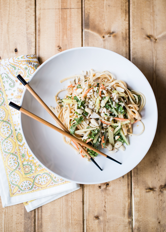 cold peanut noodles with vegetables