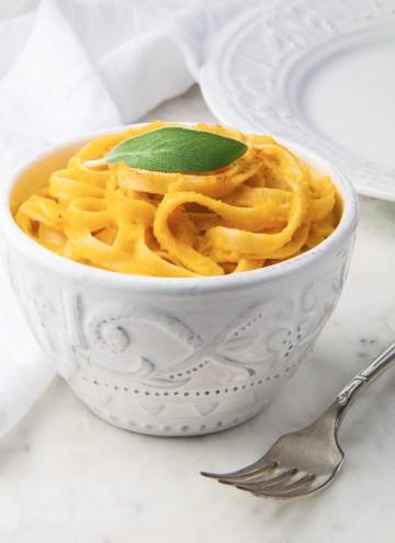 Dairy-Free Pumpkin Fettuccine Alfredo