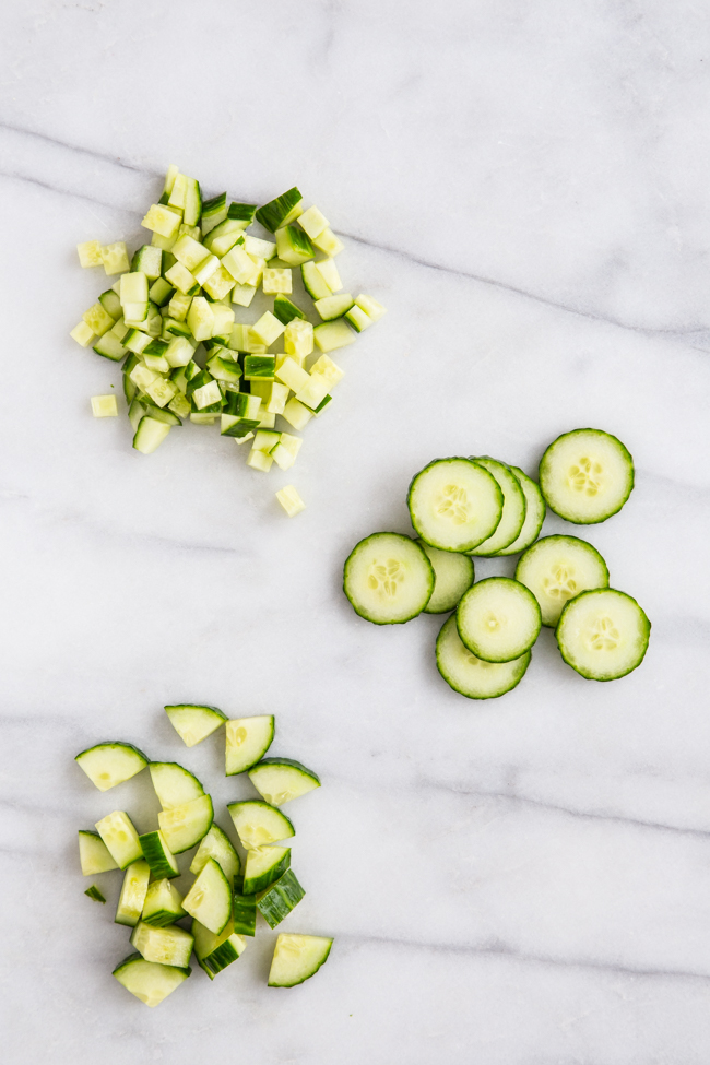 How to Cut Seedless Cucumber