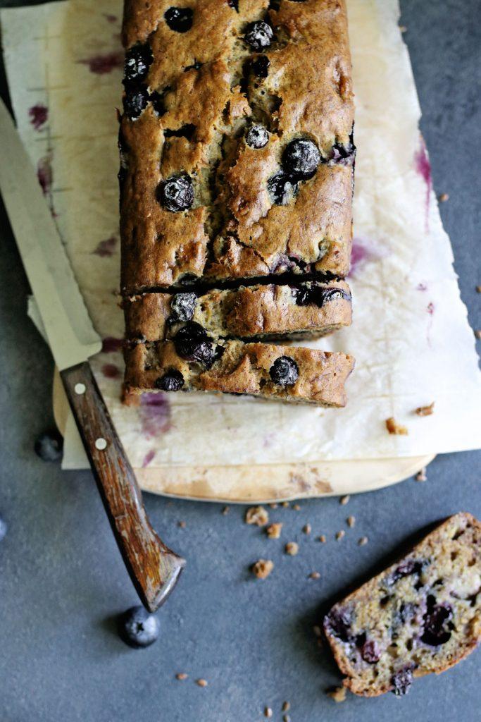 Coconut Milk Blueberry Banana Bread