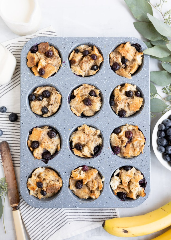 Make & Freeze Naturally Sweetened Blueberry French Toast Cups